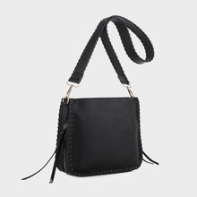 Load image into Gallery viewer, Isabelle Whip-stitch Shoulder Bag (87717A BK)