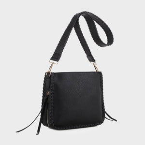 Isabelle Whip-stitch Shoulder Bag (87717A BK)