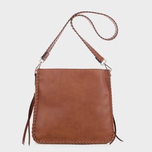 Isabelle Whip-stitch Shoulder Bag (87717A)
