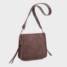 Load image into Gallery viewer, Isabelle Whip-stitch Shoulder Bag (87717A DBR)