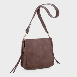 Isabelle Whip-stitch Shoulder Bag (87717A DBR)