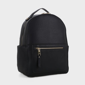 Classic Vegan Leather Backpack (87933 BK)