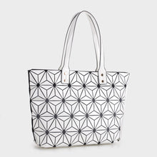 Load image into Gallery viewer, Large Geometric Tote (87941 WT)