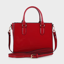 Load image into Gallery viewer, Isabelle Vegan Patent Leather Satchel (DC-19137)