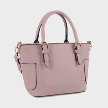 Load image into Gallery viewer, Carryall Satchel with Buckle Handle Detail