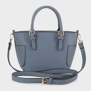 Carryall Satchel with Buckle Handle Detail