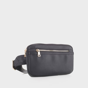 Slim Vegan Leather Fanny Pack (FC19515 BK)