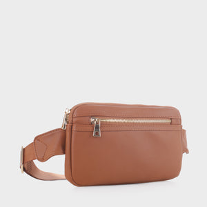 Slim Vegan Leather Fanny Pack (FC19515 BR)