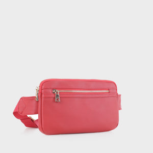 Slim Vegan Leather Fanny Pack (FC19515 RD)