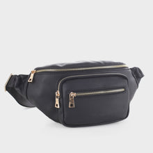 Load image into Gallery viewer, Classic Vegan Leather Fanny Pack (FC19516 BK)