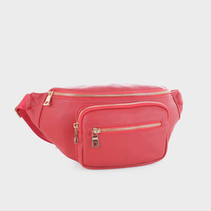 Classic Vegan Leather Fanny Pack (FC19516 RD)