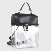Load image into Gallery viewer, Clear Boxy Backpack (TF19526 BK)
