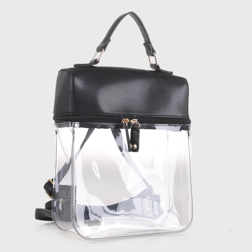 Clear Boxy Backpack (TF19526 BK)