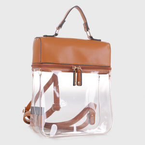 Clear Boxy Backpack (TF19526 BR)
