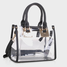 Load image into Gallery viewer, Clear Body Square Satchel (TS19512 BK)