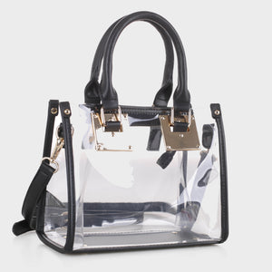 Clear Body Square Satchel (TS19512 BK)