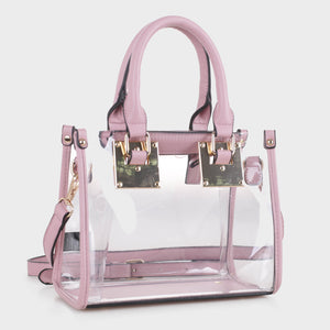 Clear Body Square Satchel (TS19512 BLS)