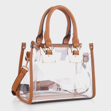 Load image into Gallery viewer, Clear Body Square Satchel (TS19512 BR)