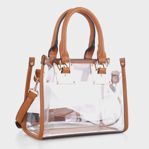 Clear Body Square Satchel (TS19512 BR)