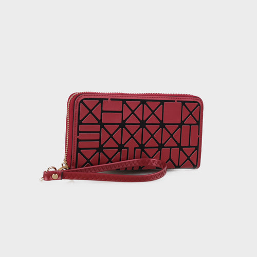 Isabelle Full-sized Geometric Zip Around Wallet (W1180 BD)