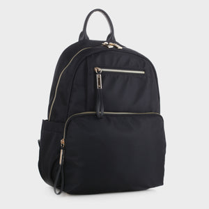 Nylon Backpack with Top Handle (YL19139 BK)