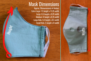 Cloth Face Mask (Shaped) Secured Around Head For Greater Comfort