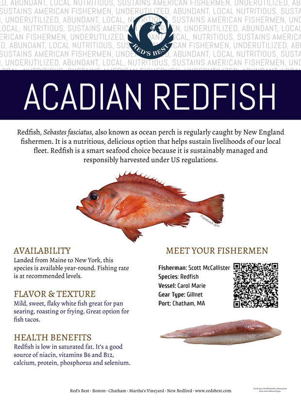 Fresh- Acadian Redfish Fillet