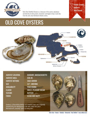 Fresh- Old Cove Oysters- Duxbury, MA 20ct