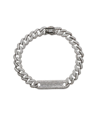 Cuban Link CZ 7mm Bracelet w/ Nameplate - Fox's