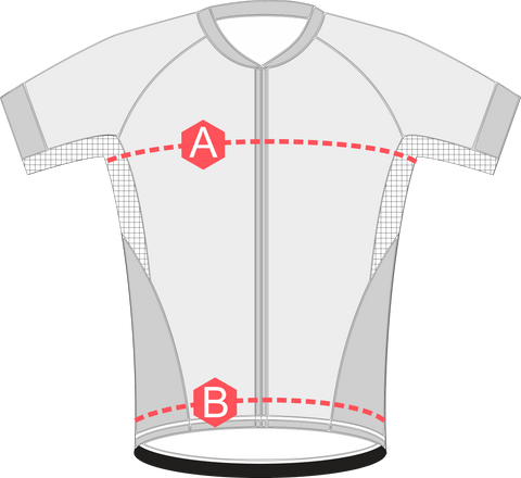 measurements cycling jerseys