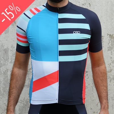 Colour block SS jersey