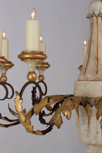 Carved Acanthus Chandelier
