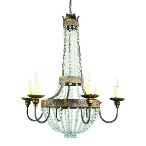 Iron & Crystal Chandelier