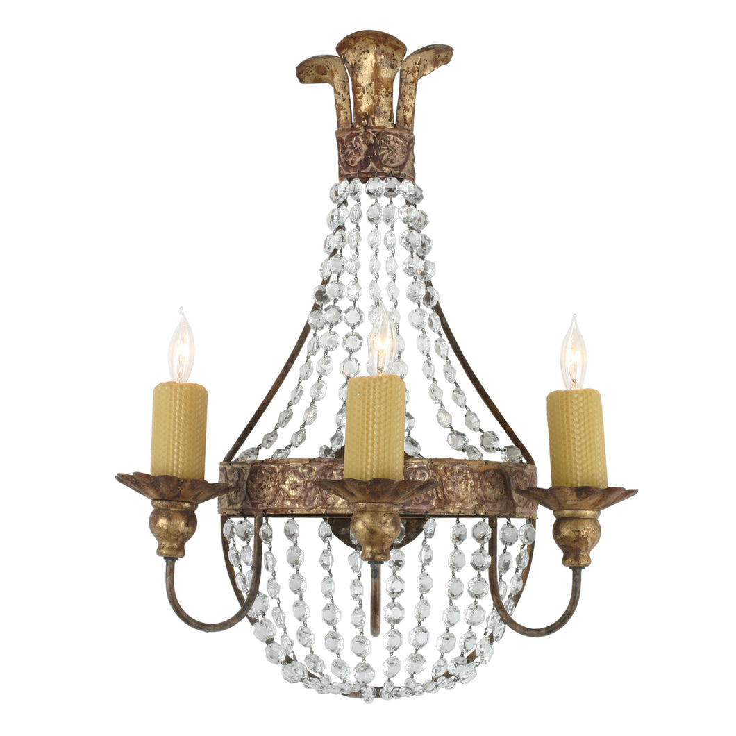 Iron & Crystal Sconce