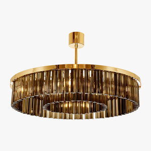 Small Double Drum Chandelier
