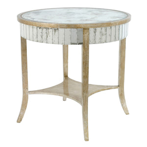 Round Parquet Side Table