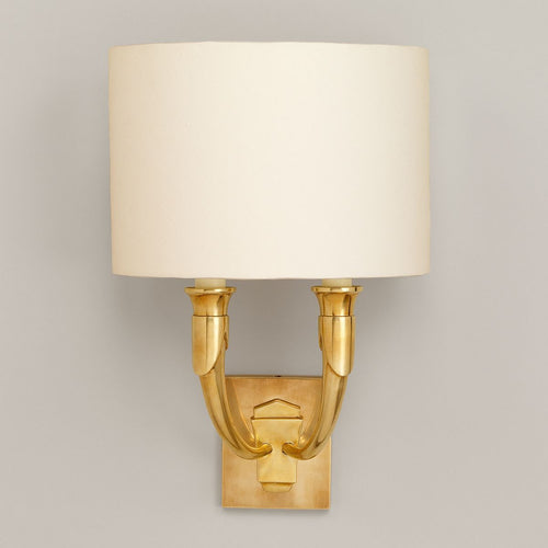 French Horn Wall Light