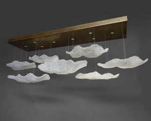 7 Cloud Glass Chandelier