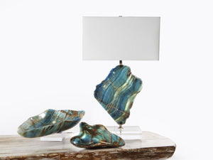 Blue Calcite Lamp