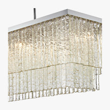 Load image into Gallery viewer, Large Two Tier Rectangular Chandelier