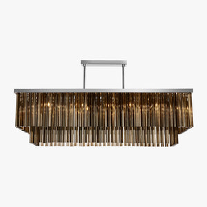 Large Two Tier Rectangular Chandelier