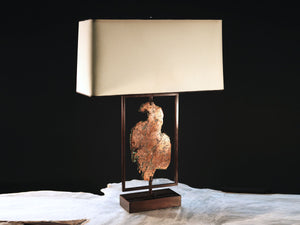 Copper Slab Lamp