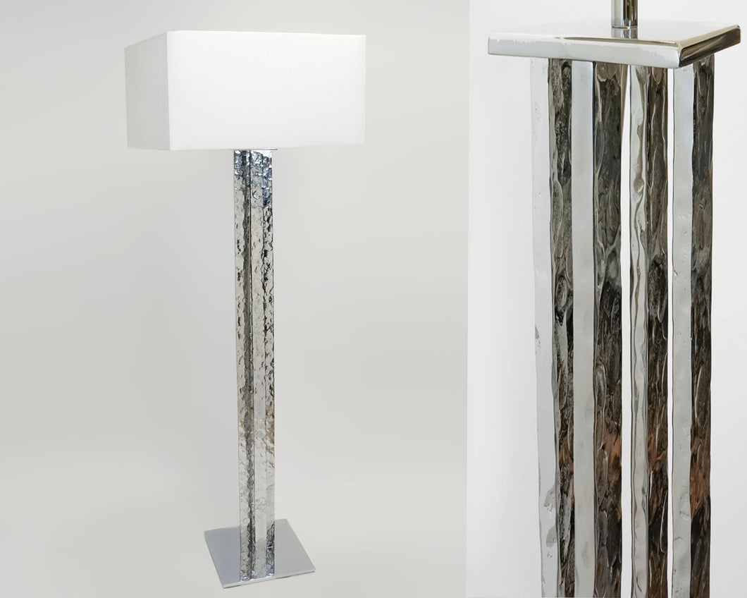 Hammered Metal Floor Lamp