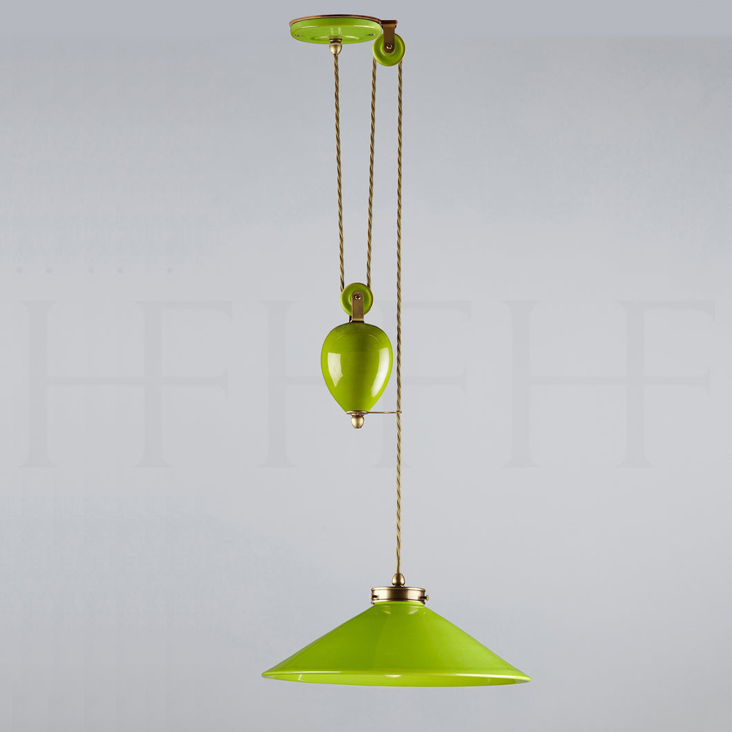 Lucia Rise and Fall Pendant Verde Selenio