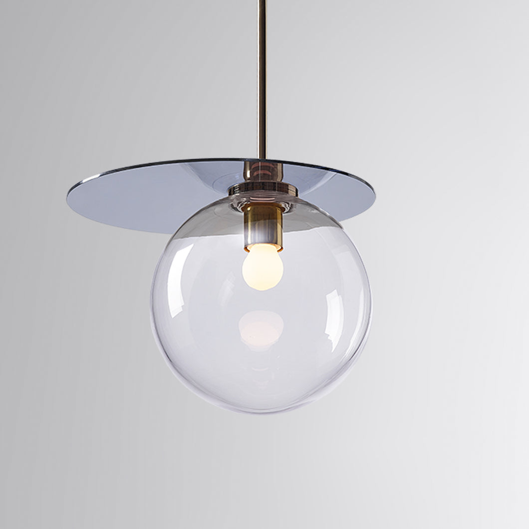 Umbra Pendant Clear, Blue Disc