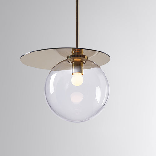 Umbra Pendant Clear, Gold Disc