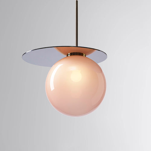 Umbra Pendant Pink, Blue Disc