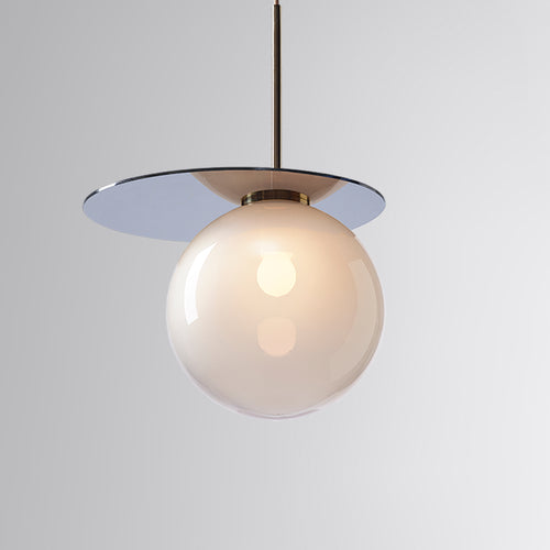 Umbra Pendant Light Grey, Blue Disc