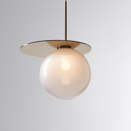 Umbra Pendant Light Grey, Gold Disc
