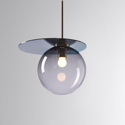 Umbra Pendant Smoke Grey, Blue Disc